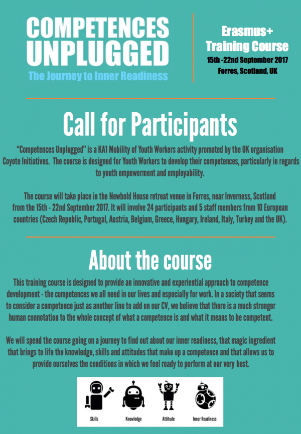 Competences Unplugged - training course - UK - Scotland - abroadship.org