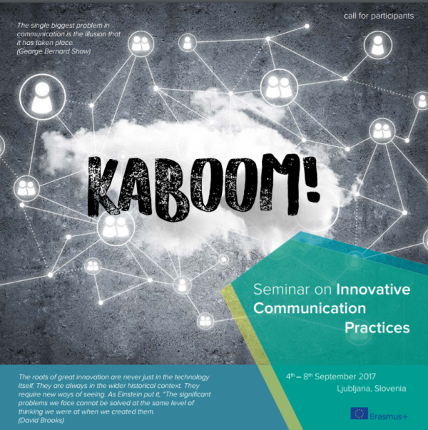 Kaboom on Innovative Communication Practices - Seminar - Slovenia - abroadship.org