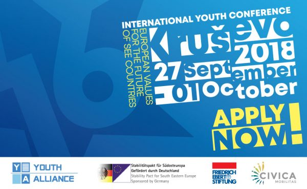 Seminar/Conference: 16th International youth conference EUROPEAN VALUES FOR THE FUTURE OF SEE COUNTRIES - Former Yugoslav Republic of Macedonia - abroadship.org