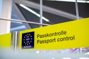 European Passport Control - photo credit : Daniel Schludi