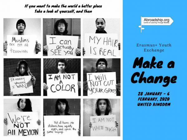 Make A Change #2 - Erasmus plus - youth exchange - United Kingdom - Erasmus plus