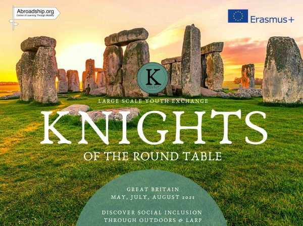 Knights of the Round Table - Erasmus plus youth exchange - Great Britain - United Kingdom - Searching for a King - Searching for a Grail - Searching for Freedom - South England - Isle of Wight - Northern Ireland - abroadship.org